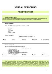 Verbal Reasoning practice test (PDF - 73Kb)