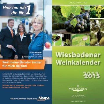 Wiesbadener Weinkalender 2013 - Landeshauptstadt Wiesbaden
