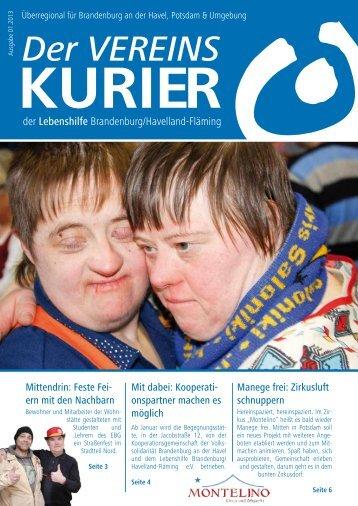 Vereinskurier 1/2013 - Lebenshilfe für Menschen mit geistiger ...