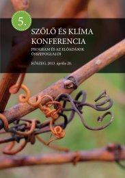 5. Szőlő és Klíma Konferencia - Kőszeg