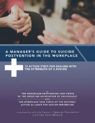 A Manager's Guide to Suicide Postvention in the Workplace 1