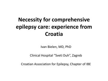 Necessity for comprehensive epilepsy care: experience from Croatia