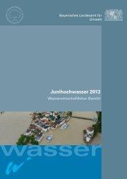 Junihochwasser 2013 (pdf) - Hochwassernachrichtendienst Bayern