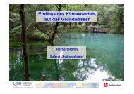 Vortrag 4: Einfluss des Klimawandels auf das Grundwasser