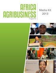 Download Media Kit PDF - Africa Agribusiness Magazine