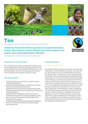 Factsheet Tee PDF, 850 KB - Max Havelaar Switzerland
