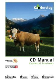 CD Manual - Extranet Kandertal Tourismus