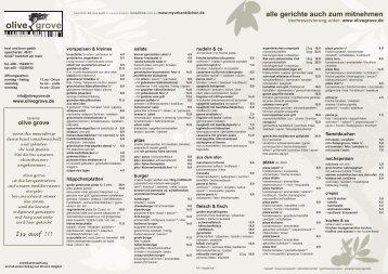 speise & getränkekarte (pdf) - Taverna Olive Grove