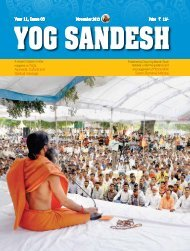 Year 11, Issue 03 November 2013 Price ` 15/- - Divya Yog Mandir ...