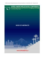 BOOK OF ABSTRACTS - iufro landscape ecology conference