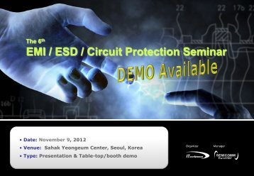 EMI / ESD / Circuit Protection Seminar - Display Plus
