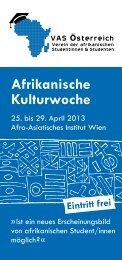 Afrikanische Kulturwoche - VAS Öesterreich