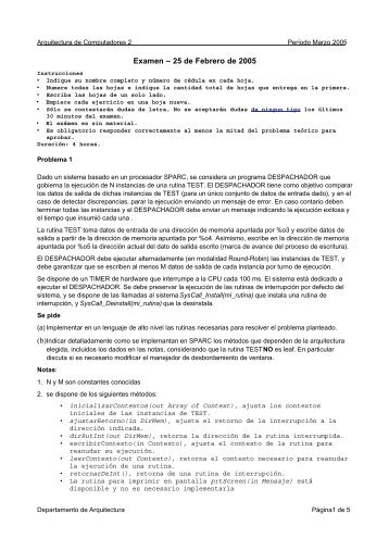 Solución del examen del 25/02/2005