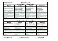 Schulverpflegung Menüplan August 32. Woche 5. – 8. August 2013 ...