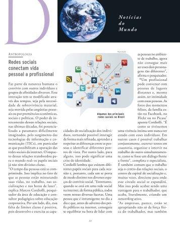 Redes sociais conectam vida pessoal a profissional