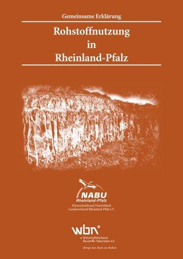 Rohstoffnutzung in Rheinland-Pfalz - Vero