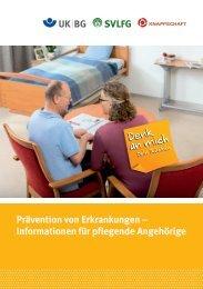 Informationen für pflegende Angehörige - Denk an mich. Dein Rücken