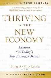 Thriving in the New Economy: Lessons from Today's Top Business ...