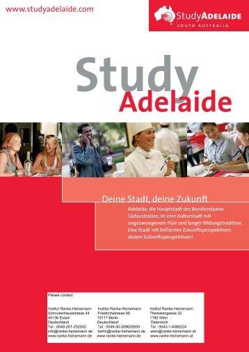 Studium in Adelaide - Institut Ranke Heinemann