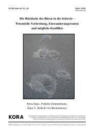 KORA Bericht Nr. 28 - Herdenschutz Schweiz