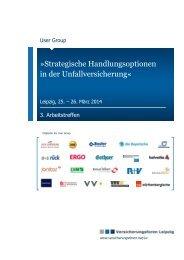 Exposé der User Group - Versicherungsforen Leipzig