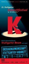 21. Stuttgarter Kabarettfestival