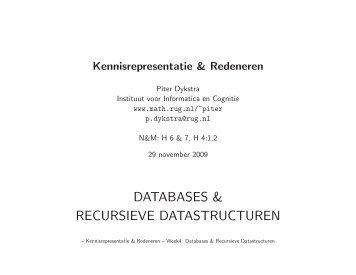 DATABASES & RECURSIEVE DATASTRUCTUREN