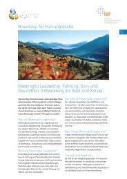Meaningful Leadership: Führung, Sinn und Gesundheit ... - egomet