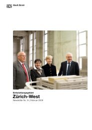 Nr. 14, Februar 2009 (PDF, 19 Seiten, 1 MB) - Stadt Zürich