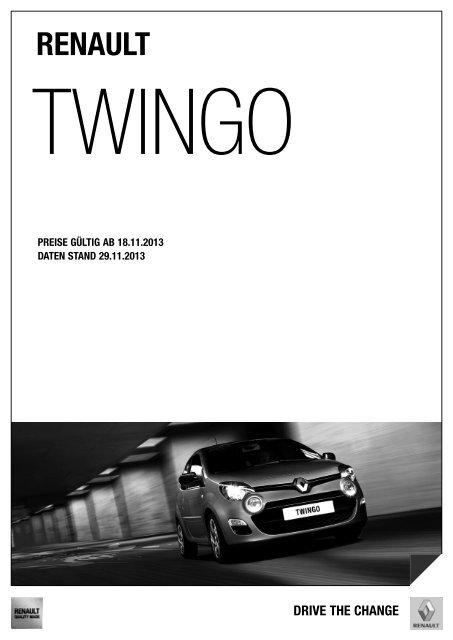 Preisliste Twingo - Renault