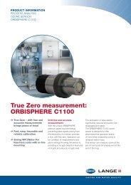 True Zero measurement: ORBISPHERE C1100 - HACH LANGE