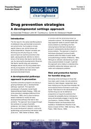 Drug prevention strategies - DrugInfo