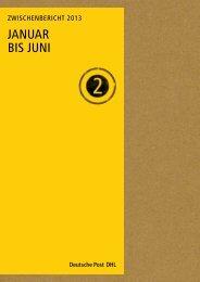 Zwischenbericht Q2 2013 - Deutsche Post DHL
