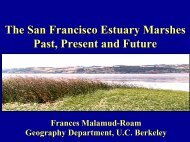 The San Francisco Estuary Marshes Past, Present and Future The ...