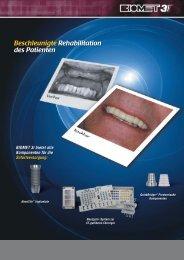 Beschleunigte Rehabilitation des Patienten - BIOMET 3i