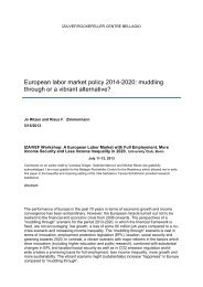 European labor market policy 2014-2020: muddling through or a ...