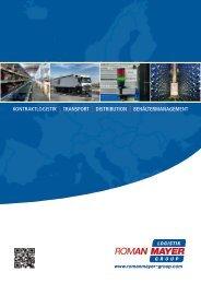 Roman Mayer Logistik Group Broschüre - B4B Schwaben
