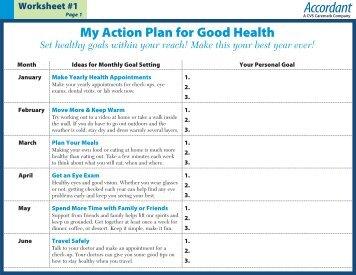 Worksheet #1 Action Plan For Good Health   Accordant.com