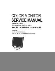 COLOR MONITOR SERVICE MANUAL