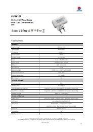Datasheet constant current power supply 350mA, IP20 ... - LEDS.de