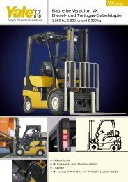 Spezifikationsdownload Veracitor VX 1600 - Yale Materials Handling