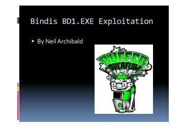 Bindis BD1.EXE Exploitation - felinemenace.org