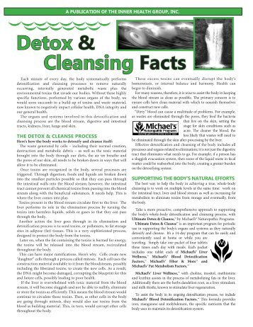 Detox & Cleanse - Michael's Naturopathic Programs