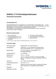 Technische Informationen - Wakol