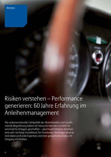 Risiken verstehen – Performance generieren: 60 Jahre Erfahrung im ...