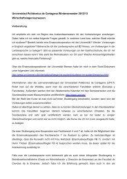 Universidad Politécnica de Cartagena Wintersemester 2012/13 ...
