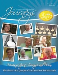 Volume 28, No. 1 Summer 2010 Sisters of St. Joseph of ...