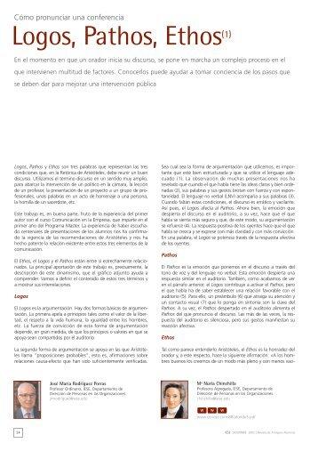 Logos, Pathos, Ethos(1) - revista iese.