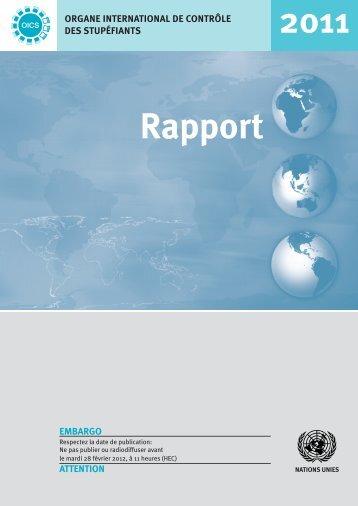 Rapport de l'Organe international de contrôle des stupéfiants ... - INCB