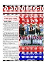 Aici puteti vizualiza Ziarul Vladimirescu Nr. 214 10 August 2012